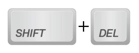 shift+delete永久删除